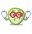 super hero sliced cucumber hamburger ingredient vector image