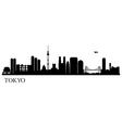 Tokyo silhouette black vector image vector image