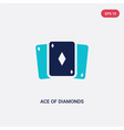 two color ace diamonds icon from entertainment vector image vector image