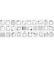various papers and notes doodle set vector image vector image