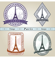 Vintage stamp Paris vector image