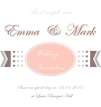 Wedding invitation card with hearts vector image