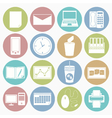 white icons office vector image vector image