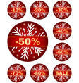 winter sale tags vector image vector image