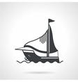 Sailing yacht black icon vector image