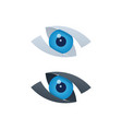 abstract vision icons with blue eyeball vector image vector image