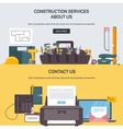 Advertising construction services vector image vector image