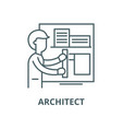 architect line icon linear concept vector image vector image