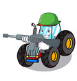 army tractor character cartoon style vector image