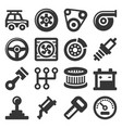 automotive car service icons set on white vector image