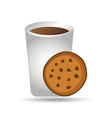 big cup coffee cookie bakery icon design graphic vector image vector image