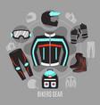 biker gear design concept vector image