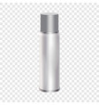 blank spray can mockup realistic style vector image vector image