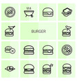 burger icons vector image vector image