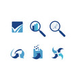 business technology flat icon collection vector image