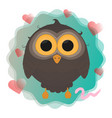 cartoon owl with worm eps10 vector image