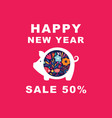 chinese new year greeting vector image