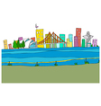 Cityscape Drawing vector image vector image