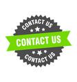 contact us sign us green-black circular vector image vector image