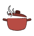 cooking pot kitchen food drawing vector image