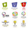 creative idea business logo set vector image