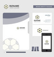 football business logo file cover visiting card vector image vector image