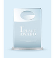 glass award vector image vector image