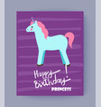 happy bithday princess card vector image vector image