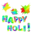 happy holi vector image vector image