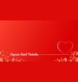 happy valentines day heart lines design vector image vector image
