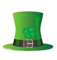 irish green top hat vector image vector image