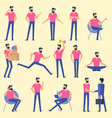 man character animation poses vector image