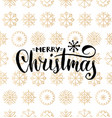 merry christmas lettering design on vector image