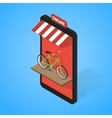 Mobile supermarket internet commerce concept vector image