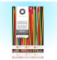 Modern Brochure Annual report Design Template vector image vector image