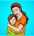 mother and child pop art style vector image vector image
