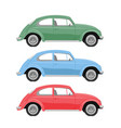 multicolored retro cars in a realistic style vector image
