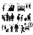 neglected child negligence abuse stick figure vector image
