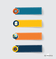 Note papers Modern Flat design vector image vector image