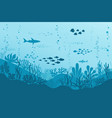 ocean underwater background with fishes sea vector image