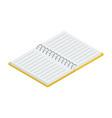 open notebook vector image