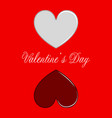 pair of heart shapes valentine day vector image