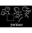 Parkour vector image vector image