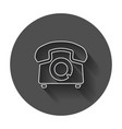phone icon old vintage telephone symbol with long vector image