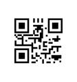 Qr code icon vector image vector image