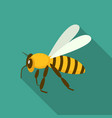 queen bee icon flat style vector image