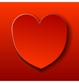 Red card for Valentine red heart vector image vector image