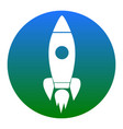 rocket sign white icon in vector image vector image