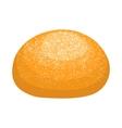 Round bread bun icon realistic style vector image vector image