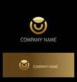 round gold company logo vector image